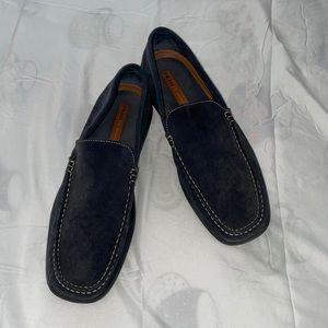 Frau FX Blue Suede Loafer Slip On Shoes